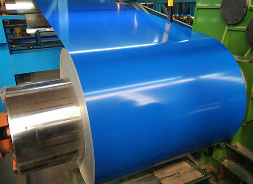 The operation method of color coating coil material is briefly introduced